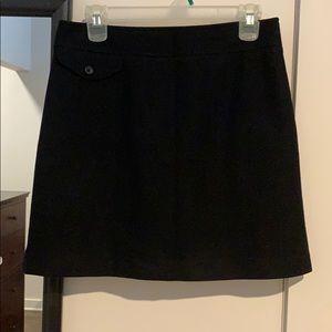 Black wool mini